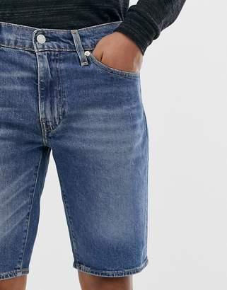 Levi's 511 slim fit low rise hemmed denim shorts in harbour mid wash-Blue