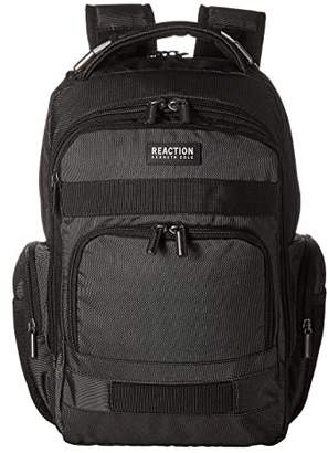 Kenneth Cole Reaction 17 Triple Compartment RFID Computer Business Backpack (Pindot Charcoal) Backpack Bags
