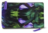 Sonia Kashuk Cosmetic Bag 2-Zip Purse Kit Purple Floral