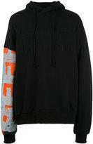 Juun.J embroidered hoodie - men - Cotton/Polyurethane - 36