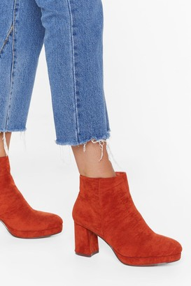Nasty Gal Womens Suede to Break Your Heart Faux Suede Boots - orange - 3