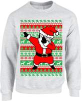 Allntrends Adult Crewneck Dabbing Santa Ugly Christmas Sweater (2XL, )