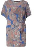 Dorothy Perkins Womens DP Curve Plus Size Paisley Print Soft Tie Waist Tunic- Multi Colour