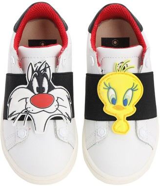 Moa Master Of Arts Asymmetric Patch Leather Slip-On Sneaker