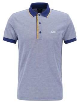 79067f8b BOSS Hugo Slim-fit logo polo shirt in cotton pique XXXL Dark Blue