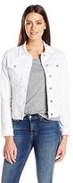 Liverpool Jeans Company Women's Classic Button Front Jacket in Powerflex Knit Denim