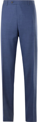 Canali Slim-Fit Melange Wool Suit Trousers - Men - Blue