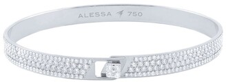 Alessa White Gold and Diamond Spectrum Full Pave Bangle