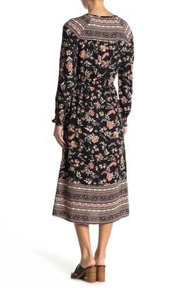 Eva Tassel Trimmed Split Neck Maxi Dress