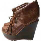 Mulberry Brown Python Boots
