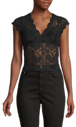 RD Style V-Neck Lace Top