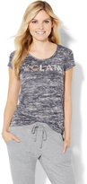 "New York & Co. Lounge - ""#Glam"" Sequin Logo Tee"