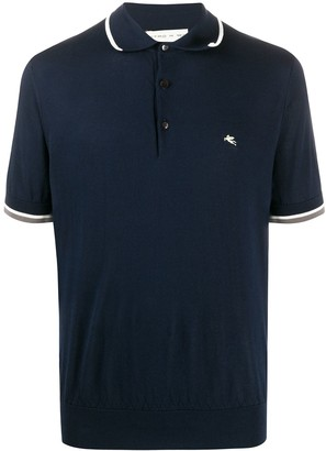 Etro Striped-Trim Polo Shirt