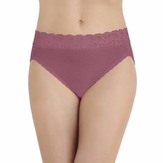 Vanity Fair Women's Flattering Lace Hi Cut Panty 13280