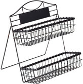 Mikasa Gourmet Basics Two Tier Basket with Easel