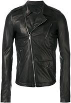 Rick Owens Stooges biker jacket - men - Cotton/Lamb Skin/Cupro - 50