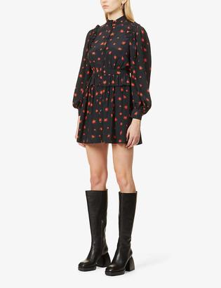 Topshop Star-print crepe mini dress