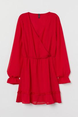 H&M V-neck chiffon dress