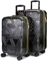 Badgley Mischka Contour 2-Piece Expandable Spinner Luggage Set - S/M