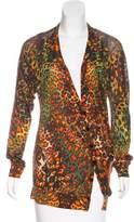 Alexander McQueen Silk Printed Cardigan