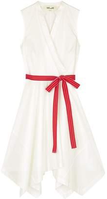 Diane von Furstenberg Marlene White Stretch-cotton Poplin Dress