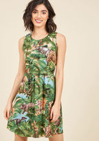 ModCloth Land Before Sublime A-Line Dress in Dinos in 1X