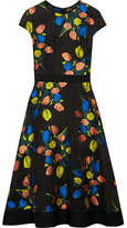 Lela Rose Floral-jacquard Dress - Black