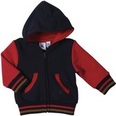 Petit Bateau Colorblcok Zip Up Hoodie (Baby) - Navy/Red-6 Months