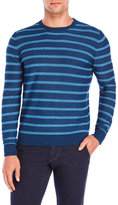 Altea Indigo Striped Crew Sweater