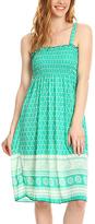 Mint Geometric Smocked Midi Dress