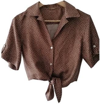Cult Gaia Brown Silk Tops