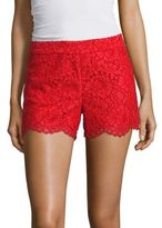 Alice + Olivia Marisa Lace Back Zip Shorts