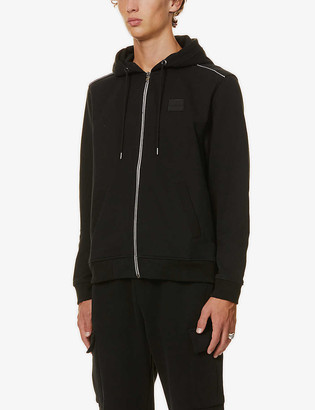 7 For All Mankind Logo patch cotton hoody