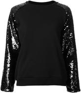 Giamba sequin sleeve sweatshirt - women - Cotton - 42