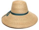 Gottex Women's Natural & Teal Cote D'azur Hat.