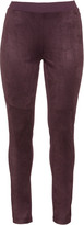 Via Appia Plus Size Faux suede and jersey leggings