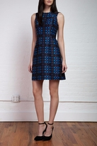 Shoshanna Plaid Jacquard Dress