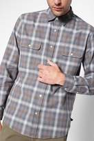 7 For All Mankind Oversized Pocket Shirt In Grey Plaid