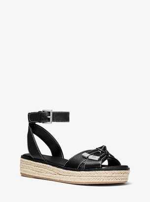 MICHAEL Michael Kors Ripley Pebbled Leather Espadrille Sandal