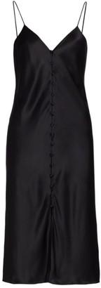 CAMI NYC Cressida Button-Front Silk Slip Dress