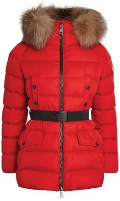 Moncler Fur-Trim Down Clion Jacket
