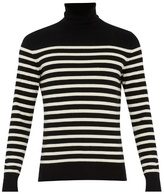 Saint Laurent Roll-neck Striped Cashmere Sweater