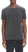 Our Legacy Men's Grey Melange Velour T-Shirt