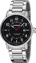 Wenger Men's 'Attitude Outdoor' Swiss Quartz Stainless Steel Casual Watch, Color:Silver-Toned (Model: 01.0341.113)