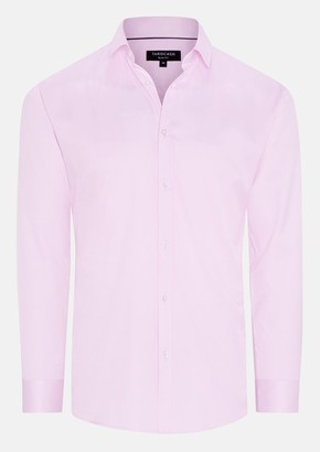 TAROCASH Pink Toby Slim Stretch Dress Shirt