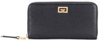 Givenchy Logo-Plaque Zip-Around Wallet