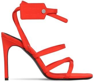 Off-White 100mm Zip Tie Silk Satin Sandals