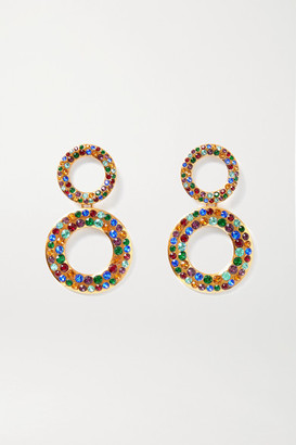 Rebecca De Ravenel Tosca Gold-plated Crystal Earrings - one size