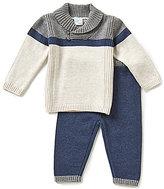 Edgehill Collection Baby Boys Newborn-6 Months Shawl-Collar Top & Pants Set