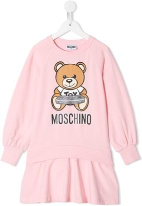 MOSCHINO BAMBINO Teddy Bear sweatshirt dress